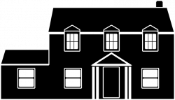 Clipart Black And White House, black and white house - White House
