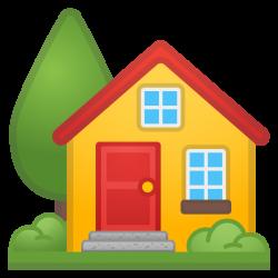 House with garden Icon | Noto Emoji Travel & Places Iconset | Google