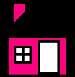 Pink House The Clip Art at Clker.com - vector clip art online ...