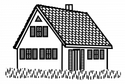 Clipart - house - lineart