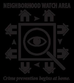 Clipart - Neighborhood Watch Area