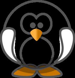 Transparent White Penguin Clip Art at Clker.com - vector clip art ...