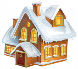 Christmas Winter House Transparent PNG Clip Art Image | Gallery ...