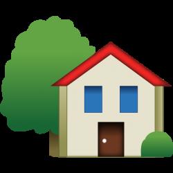 Download House Emoji With Tree | Emoji Island
