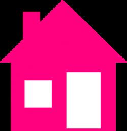 Pink House Clip Art at Clker.com - vector clip art online, royalty ...
