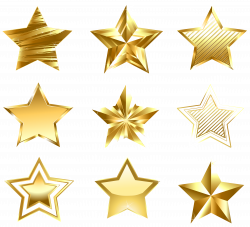 Transparent Golden Stars Set PNG Clipart | Gallery Yopriceville ...