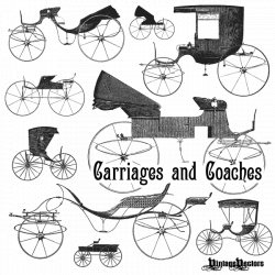 Vector Art: Old Carriages and Coaches – Free Carriage and Coach ...