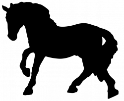black horse silhouette clipart   Cakes - Horses Silhouette ...