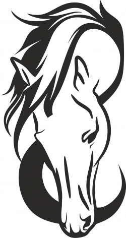 Horse Head Silhouette Clip Art at GetDrawings.com | Free for ...