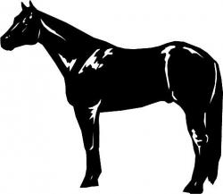 Quarter Horse Horse Clipart | Horse sketches, etc. | Horse ...