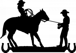 Cowboy Cowgirl Silhouette Clip Art | to its destination. Approx. 4ft ...