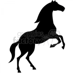 Wild Horse clipart. Royalty-free clipart # 374724