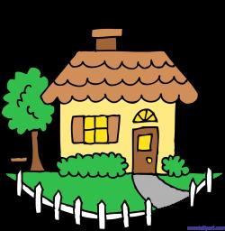 Cute Yellow House Clip Art - Sweet Clip Art