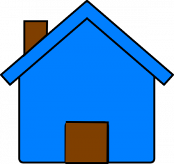 Blue And Brown House Clip Art at Clker.com - vector clip art online ...