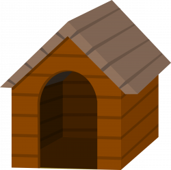 Clipart - Brown doghouse