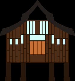 OnlineLabels Clip Art - Terengganu Kampung House
