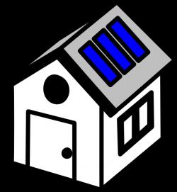 3d House Solar Panels Clip Art at Clker.com - vector clip art online ...