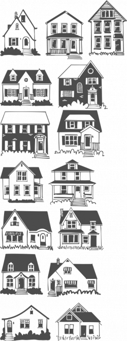 house doodles - Google Search   Templates- clipart-digital ...