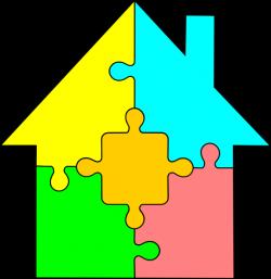 House Puzzle Clip Art at Clker.com - vector clip art online, royalty ...
