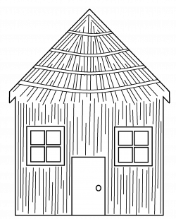 28+ Collection of Three Little Pigs Straw House Coloring Pages ...