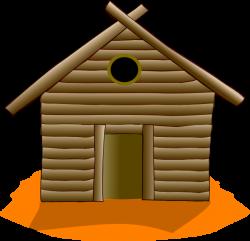 Wooden House Orange Clip Art at Clker.com - vector clip art online ...
