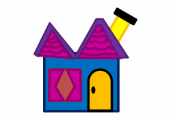House Clipart Blue's Clue - Blues Clues Magenta's House ...