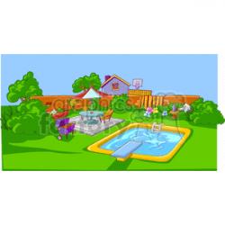backyard clipart. Royalty-free clipart # 162902