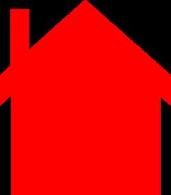 Red House Silhouette Clip Art at Clker.com - vector clip art online ...