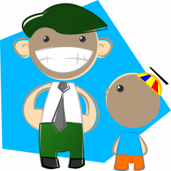 Clipart - Dad and son