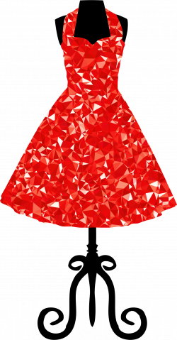 Clipart - Ruby 1950s Vintage Dress