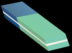Blue Green Eraser Clipart transparent PNG - StickPNG