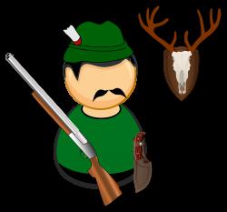 Clipart - Hunter / gamekeeper