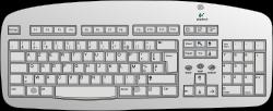 OnlineLabels Clip Art - Plopitech Keyboard