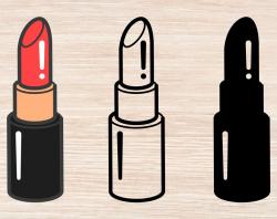 Lipstick svg Lipstick cut file Lipstick clipart Lipstick clip art Lipstick  svg files Lipstick download Digital download Instant download