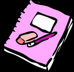 Notebook Clip Art at Clker.com - vector clip art online, royalty ...