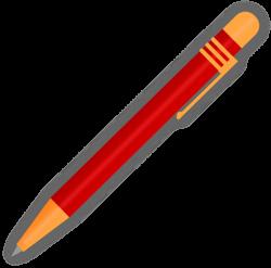 Red Ballpoint Pen Clip Art at Clker.com - vector clip art online ...