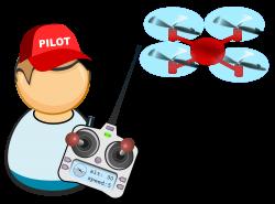 Clipart - Drone / UAV pilot