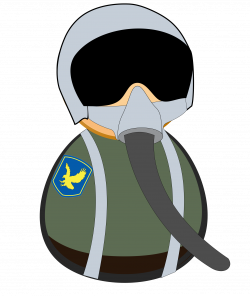 Clipart - Fighter pilot icon