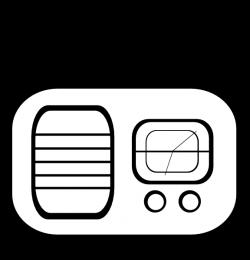Old Alarm Clock Radio Clip Art at Clker.com - vector clip art online ...