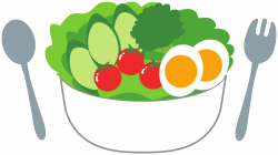 Clipart - Salad with fresh tomatoes, cucumber and eggs