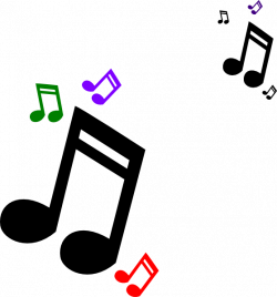Colored Music Notes Clip Art at Clker.com - vector clip art online ...