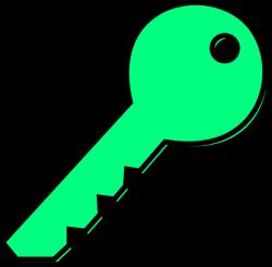 Pale Green Key Clip Art at Clker.com - vector clip art online ...