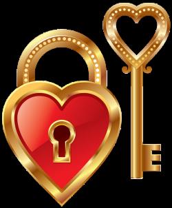 Heart Lock and Heart Key Clipart   png   Pinterest   Clip art ...