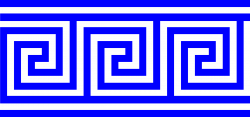Clipart - Repeating Border Greek Key With Lines
