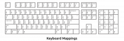 Clipart - Keyboard Mappings Outline