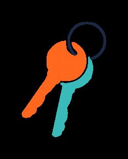 Clipart - keys icon