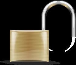 Lock - Open Clip Art at Clker.com - vector clip art online, royalty ...
