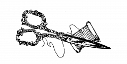 Black Decorative Scissors Clipart
