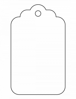 Large gift tag pattern. Use the printable outline for crafts ...