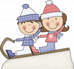 28+ Collection of Kids Sledding Clipart | High quality, free ...
